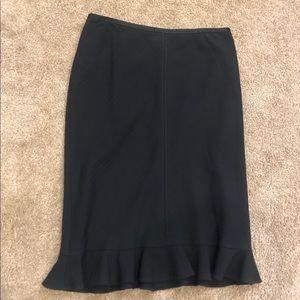 Black Banana Republic Ruffle hem skirt